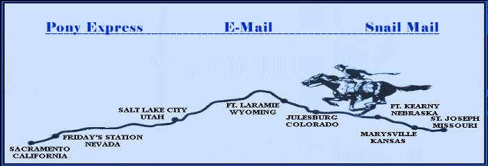 Pony Express | E-Mail | Snail Mail