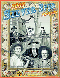 6th Annual Souvenir Program Book from the 2003 Silver Spur Awards Show